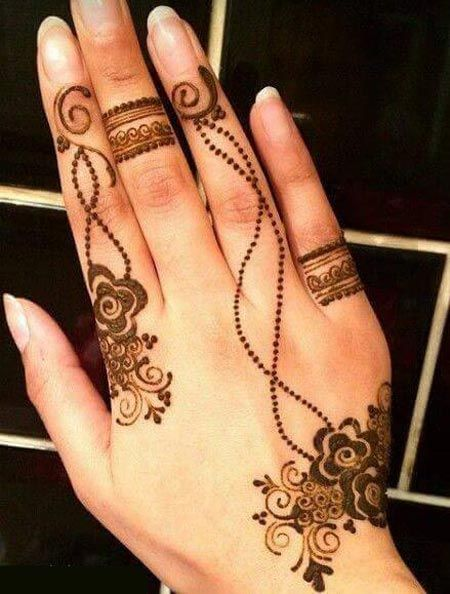 New Latest Simple Arabic Eid Mehndi Designs 2016 2017 For Hands