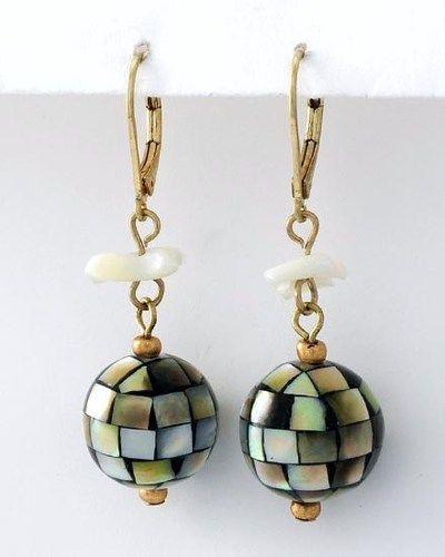 'Sea Shelly' Natural Shell Dangle Earring Set