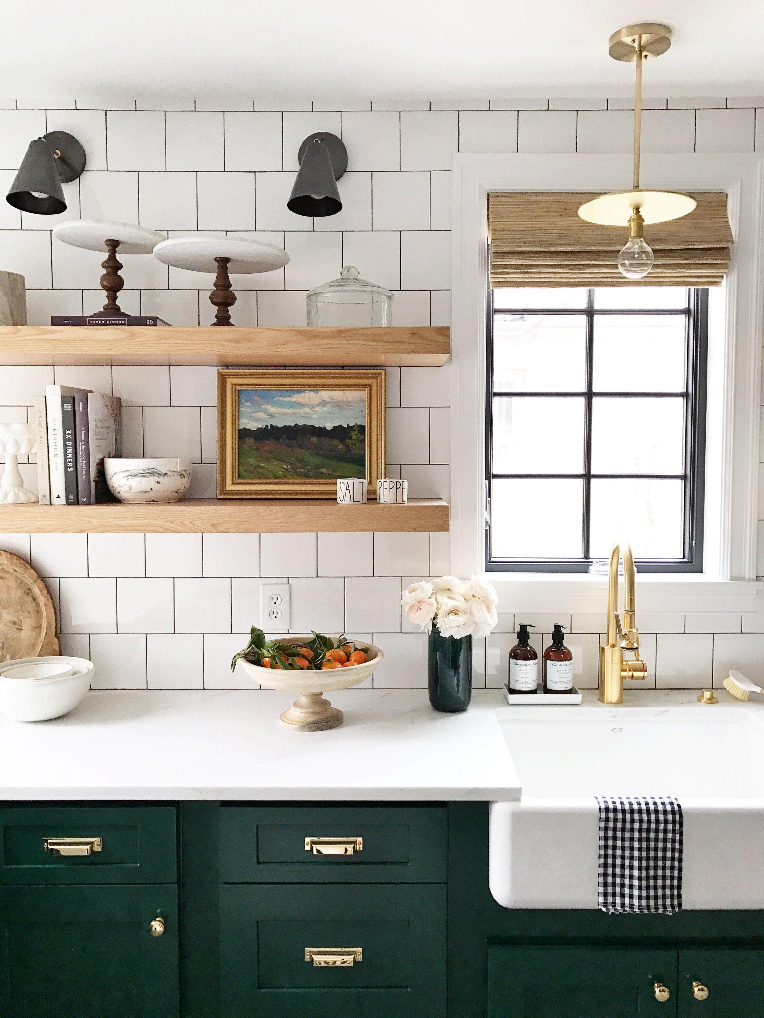 The Sunday 7   Studio mcgee, Green kitchen and Hardware