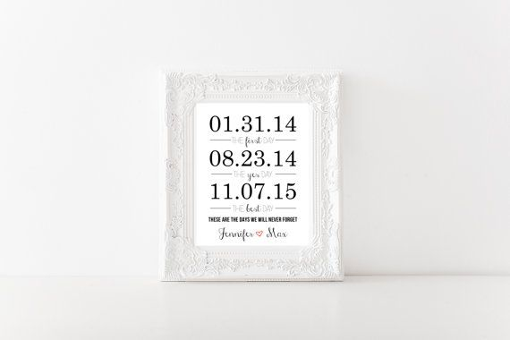 The First Day, The Yes Day, The Best Day- Personalized Art Print 8x10