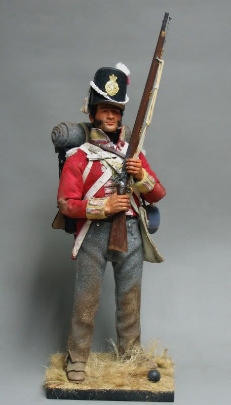 Tony Barton -- British 27th Foot at Waterloo ,1815 .