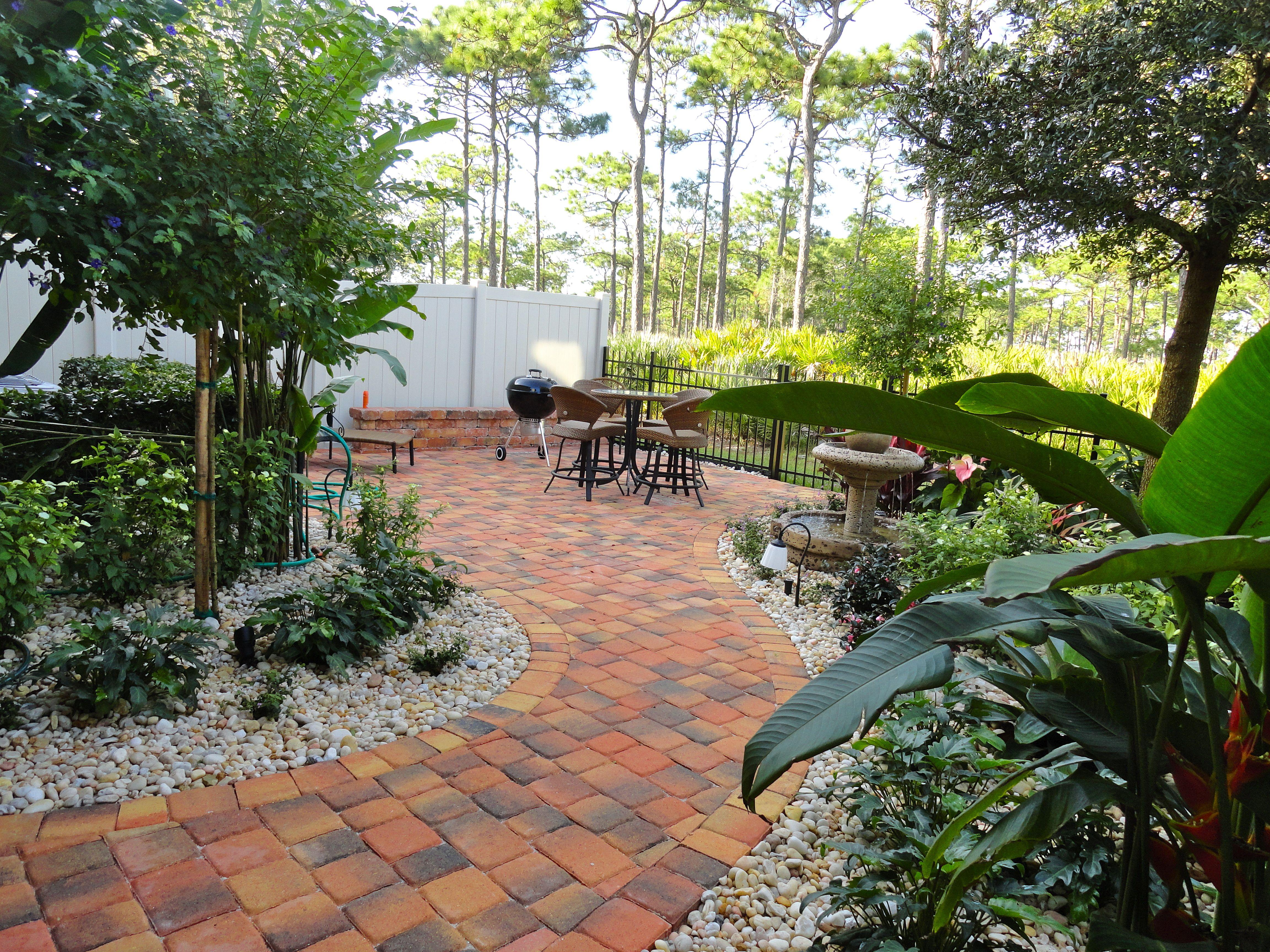 florida landscape design ideas courtyard features construction