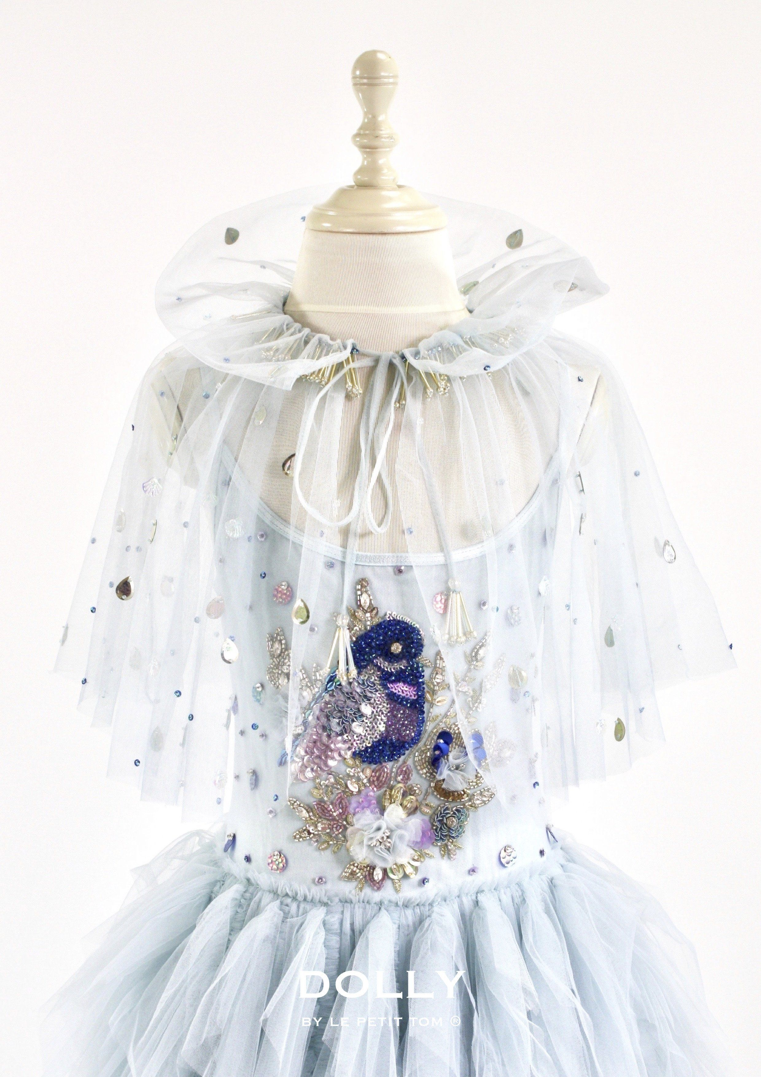 Outlet Dolly By Le Petit Tom 174 Blue Bird Cape Light Blue