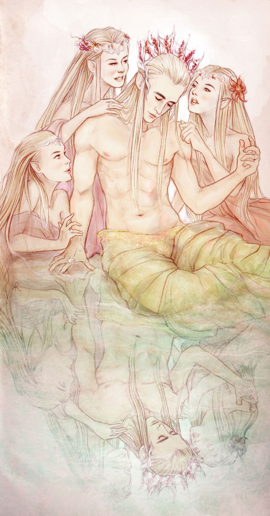 Thranduil had wanted to be with other women. He had tried but none of them could get her out of his head.