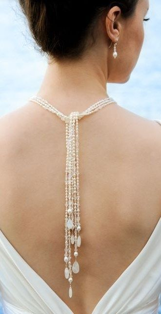 Stunning back necklace!