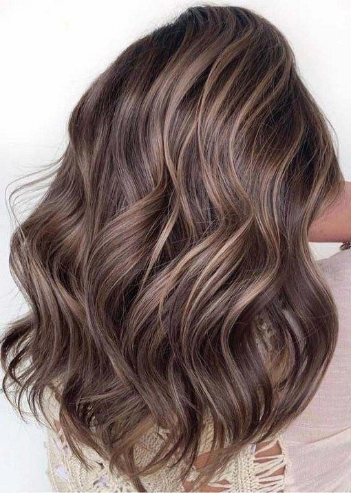 Photo of balayage brown hair