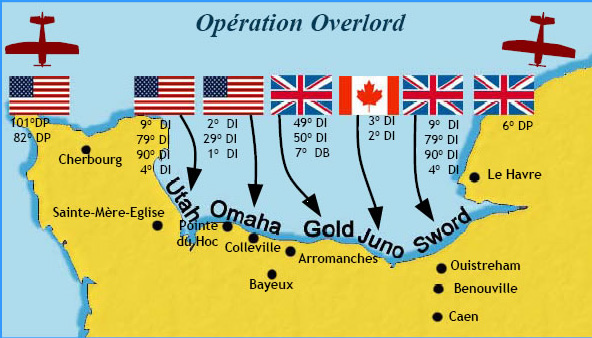 Operation Overlord map | D - DAY | Normandy beach, D day, Normandy france