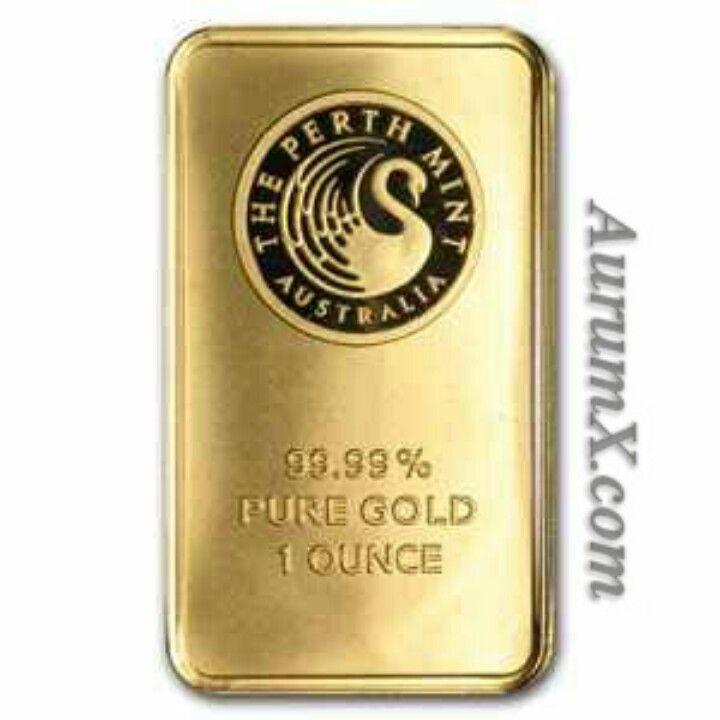 Australia The Perth Mint 1 Ounce 99 99 Pure Gold Plated High Relief Replica Souvenir Token Gold Bar Gold Bar Pure Gold Gold Krugerrand