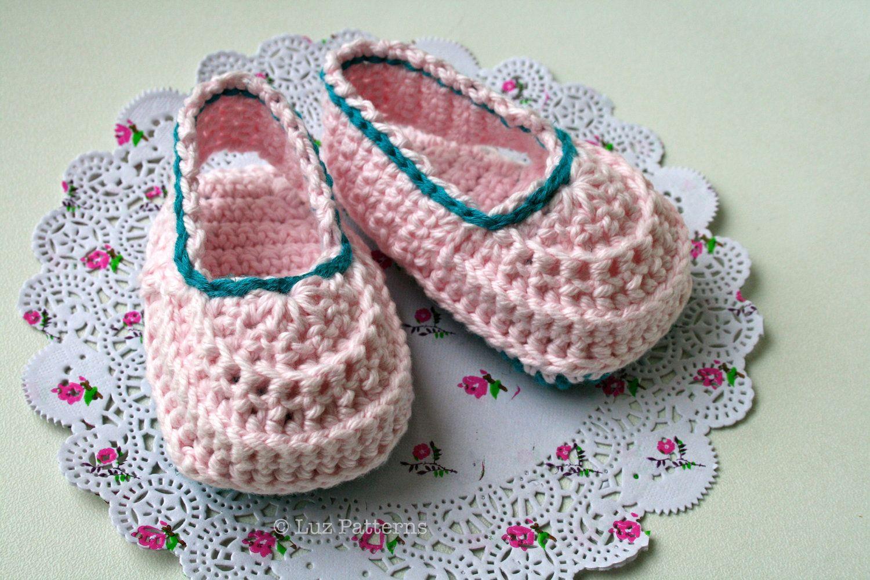 Crochet patterns, crochet baby pattern, easy crochet baby booties ...