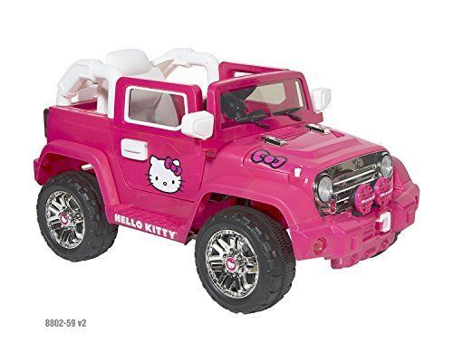 hello kitty power wheels cars for kids 4x4 off road battery 6v pink gifts girls