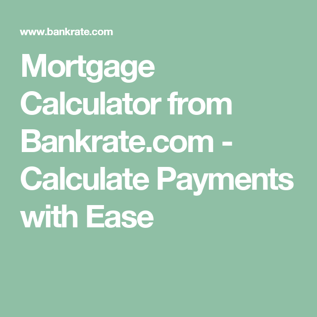 mortgage payment calculator with extra payments