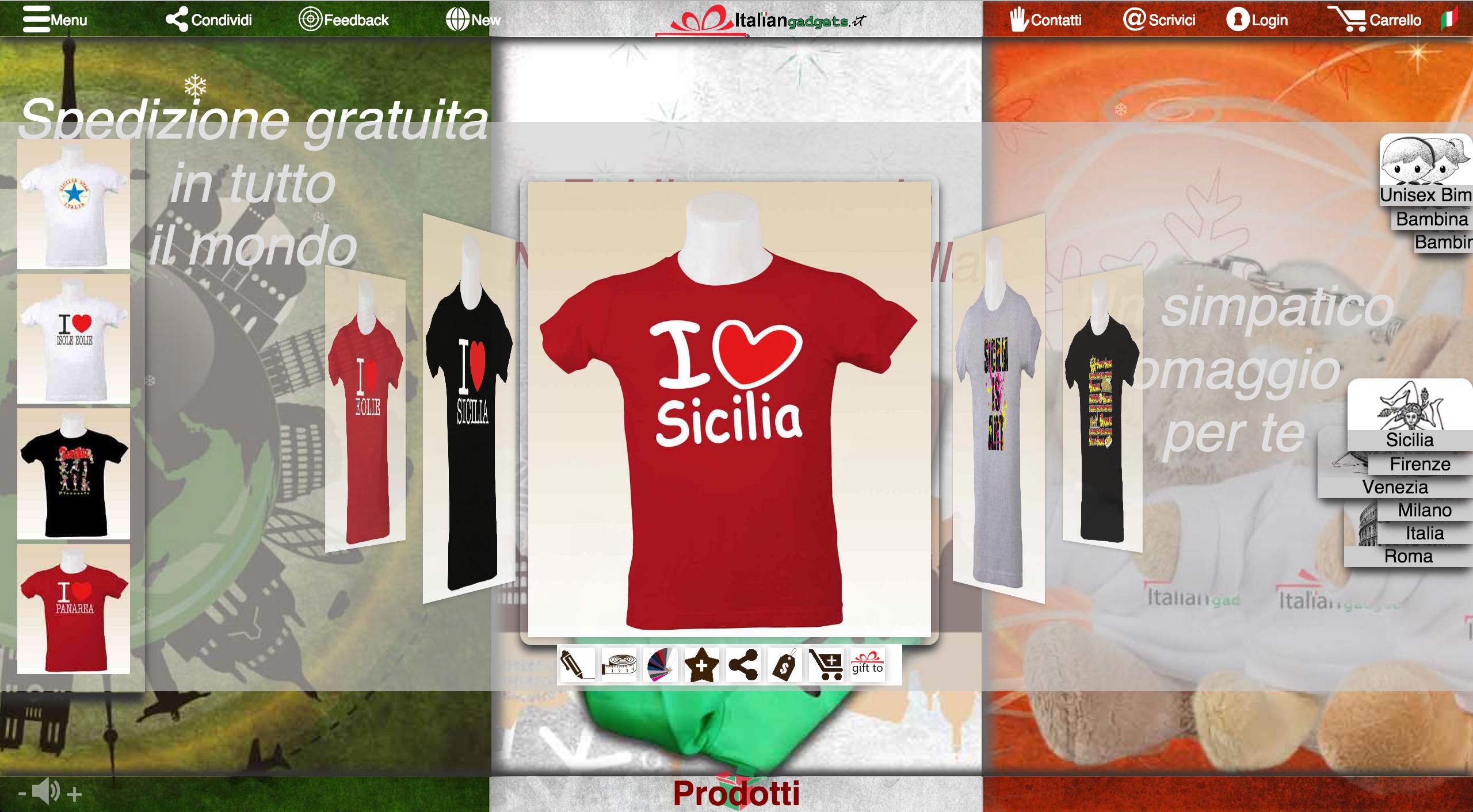 Disponibili di tutti i colori e di tutte le taglie su www.italiangadgets.it