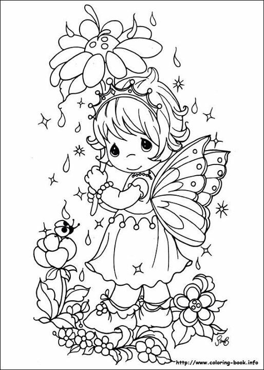 Pin By Magdalena Gruchot On A Colorier Precious Moments Coloring Pages Fairy Coloring Pages Coloring Pictures