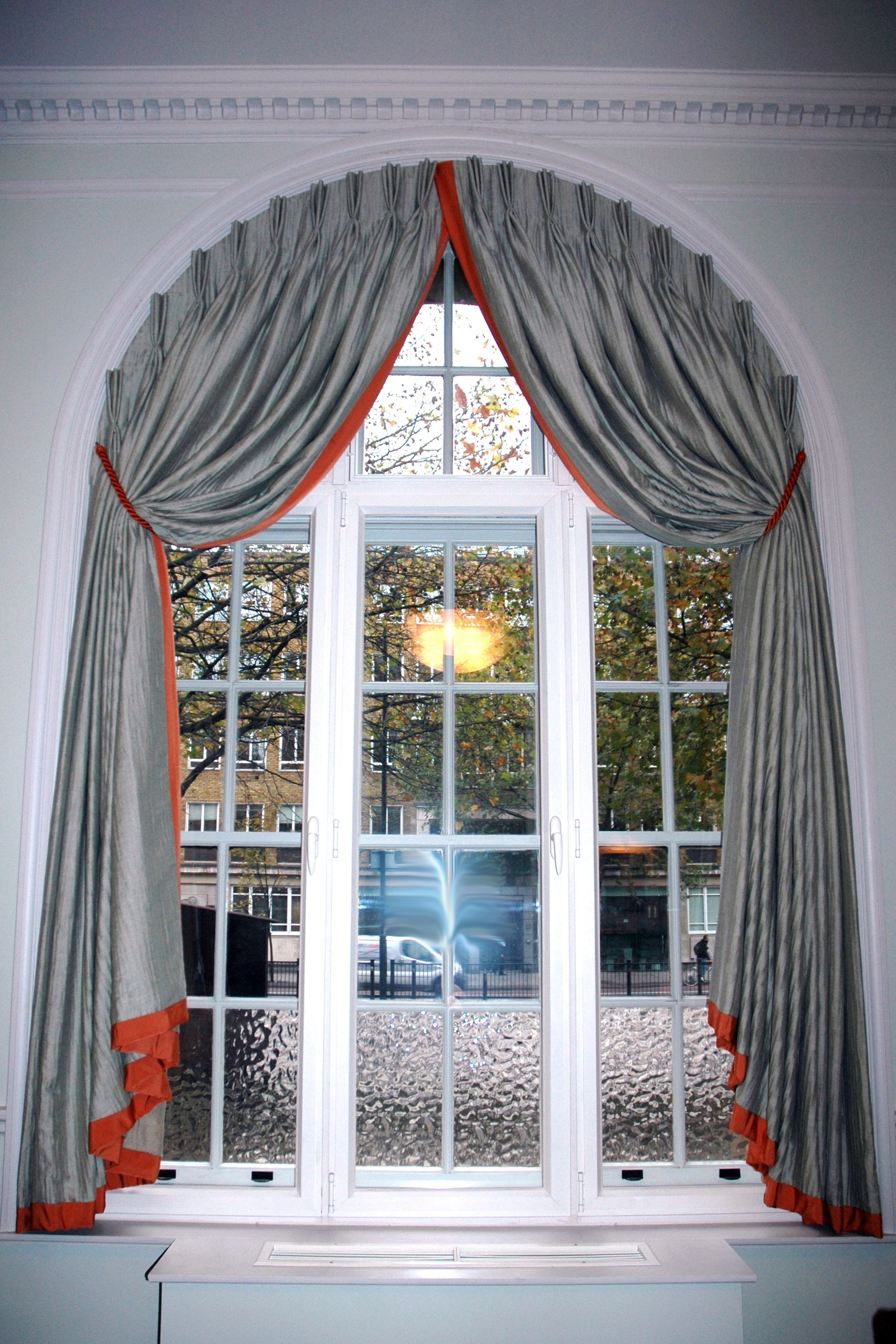 How To Hang Curtains On A Circle Top Half Window Curtains Window