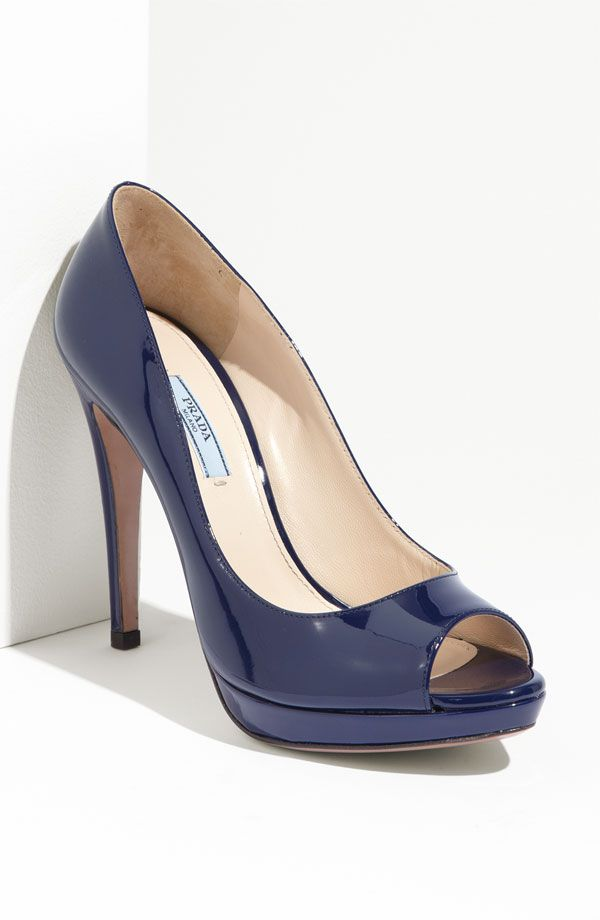 c0d17e7f53b5 Prada navy pump I am sure I can find something to wear with these ...