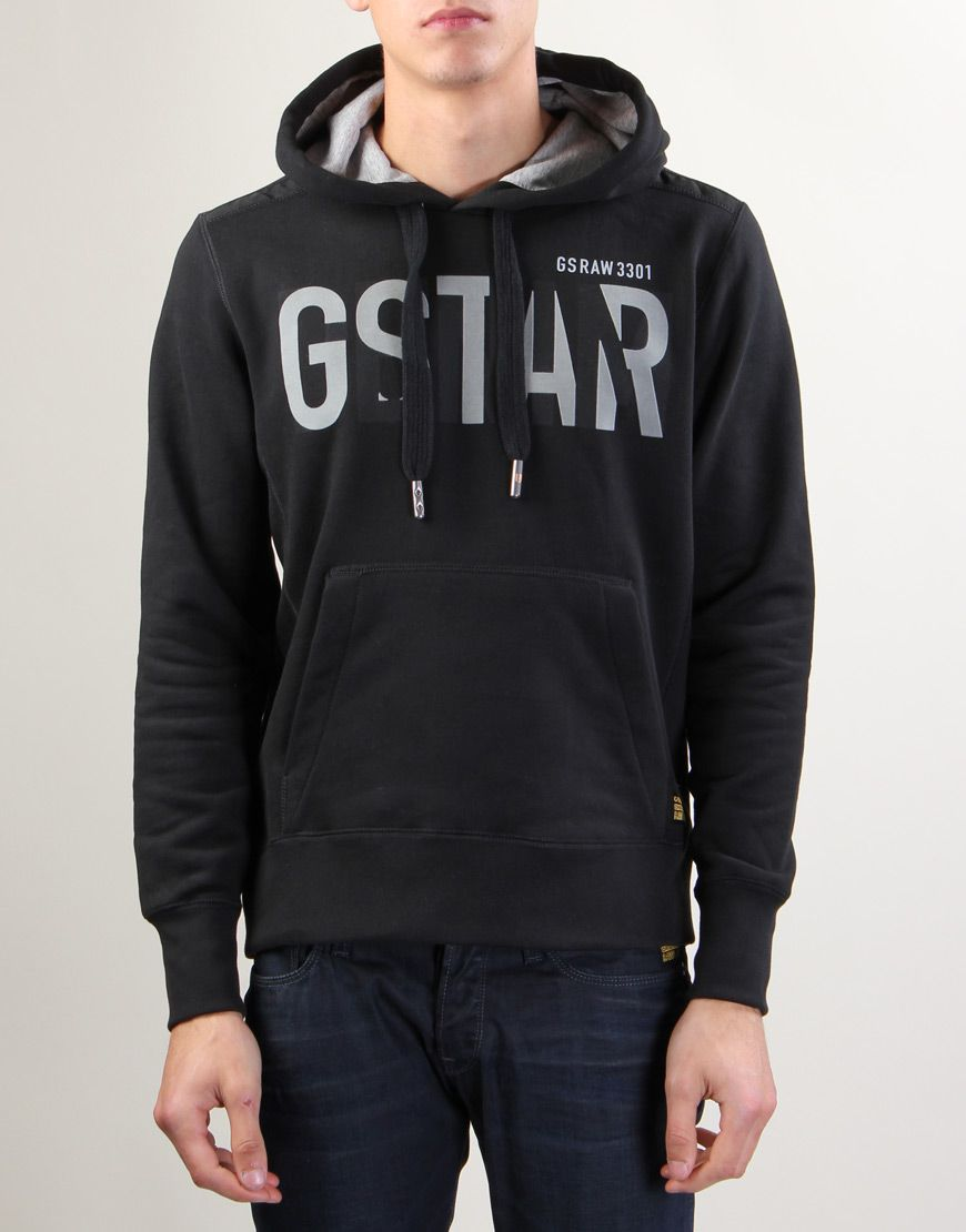 2c541e235 G-Star Raw Monty Black Hooded Sweater   Hoodies   Hooded sweater ...