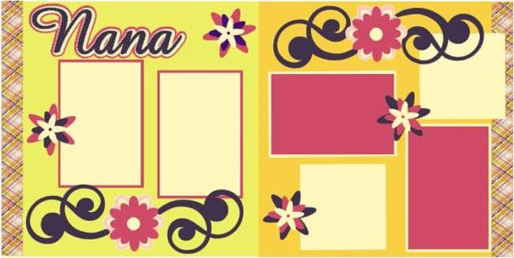 Nana 2 page 12x12 do it yourself scrapbook kit scrapbook pages nana 2 page 12x12 do it yourself scrapbook kit solutioingenieria Image collections