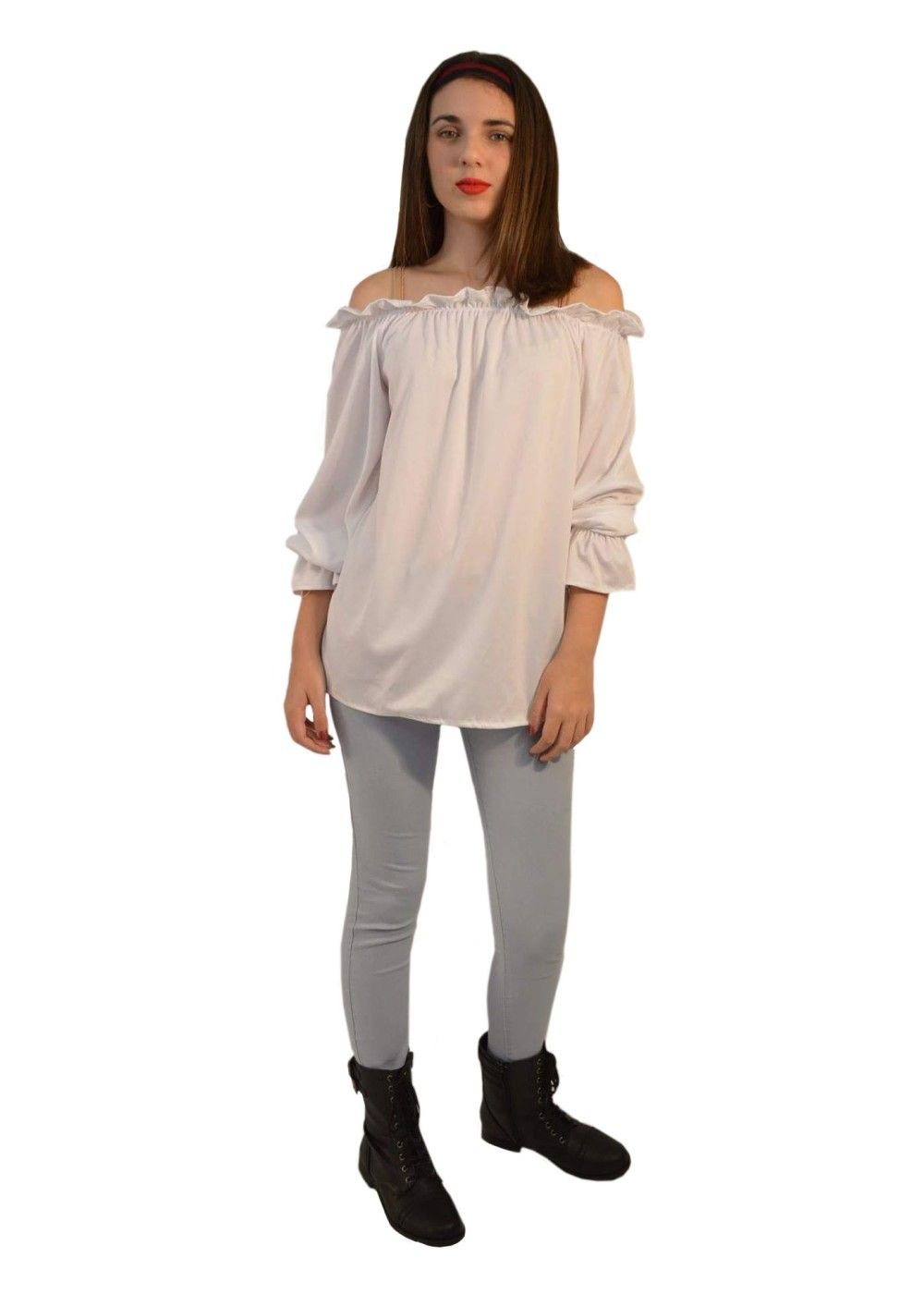 8f7426a1661c55 Renaissance Long Sleeve White Blouse Women Shirt
