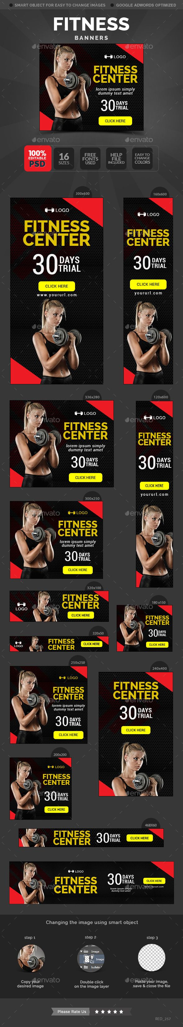 Fitness Banners Updated Banner Template Banner Banner Design