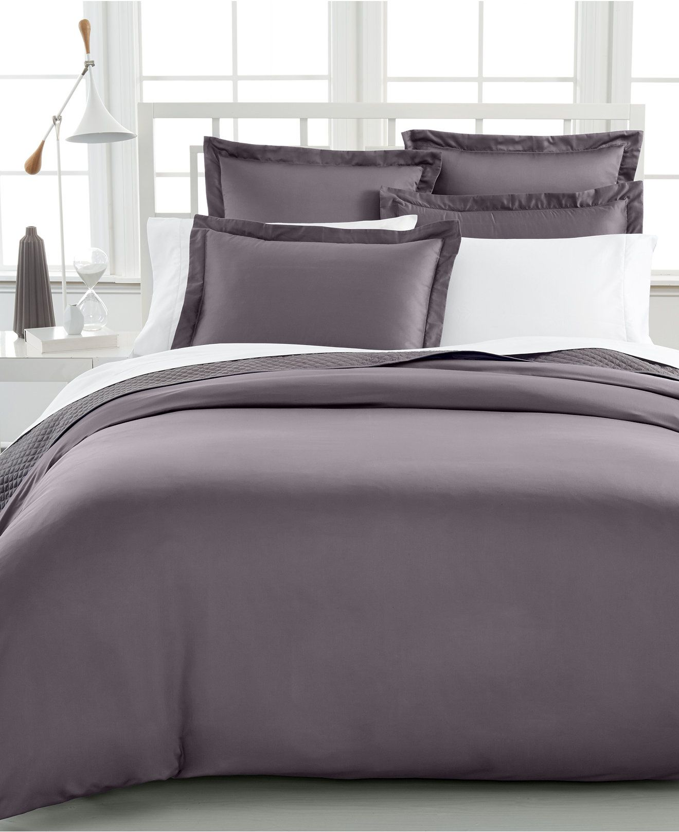 Charter Club Damask Solid 500 Thread Count Pima Cotton Duvet Cover Created For Macy S
