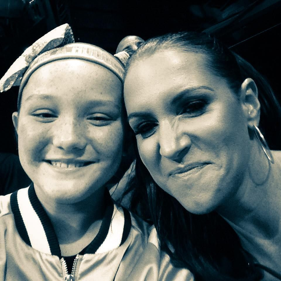 Stephanie McMahon and her oldest daughter Aurora Rose ...
