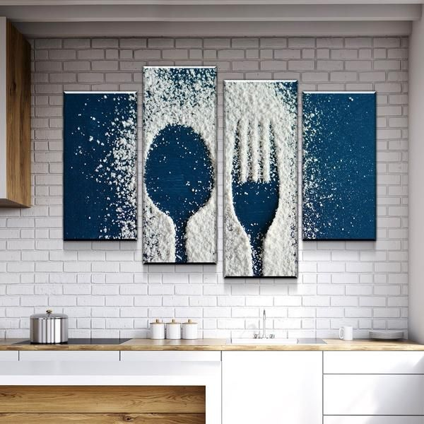 Flour Utensils Kitchen And Dining Room Wall Decor Canvas Set Dining Room Wall Art Dining Room Wall Decor Room Wall Art