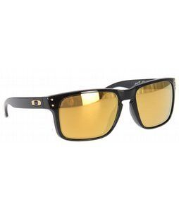 058290ceb8258 Oakley Holbrook Shaun White Sunglasses Polished Black 24K Gold Iridium Lens  Mens