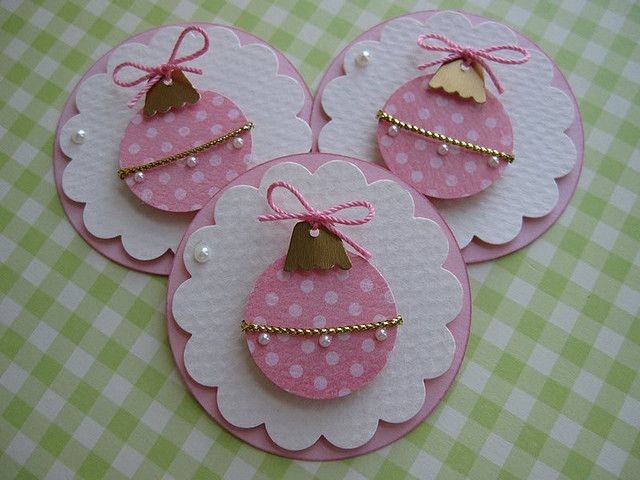 Pink Christmas Tree Ornament Embellishments Pink christmas tree