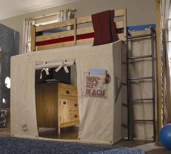 kids twin bunk beds | Wooden Kids Furniture Design Twin Loft Bed With Canopy Tent Ideas : loft bed canopy tent - memphite.com
