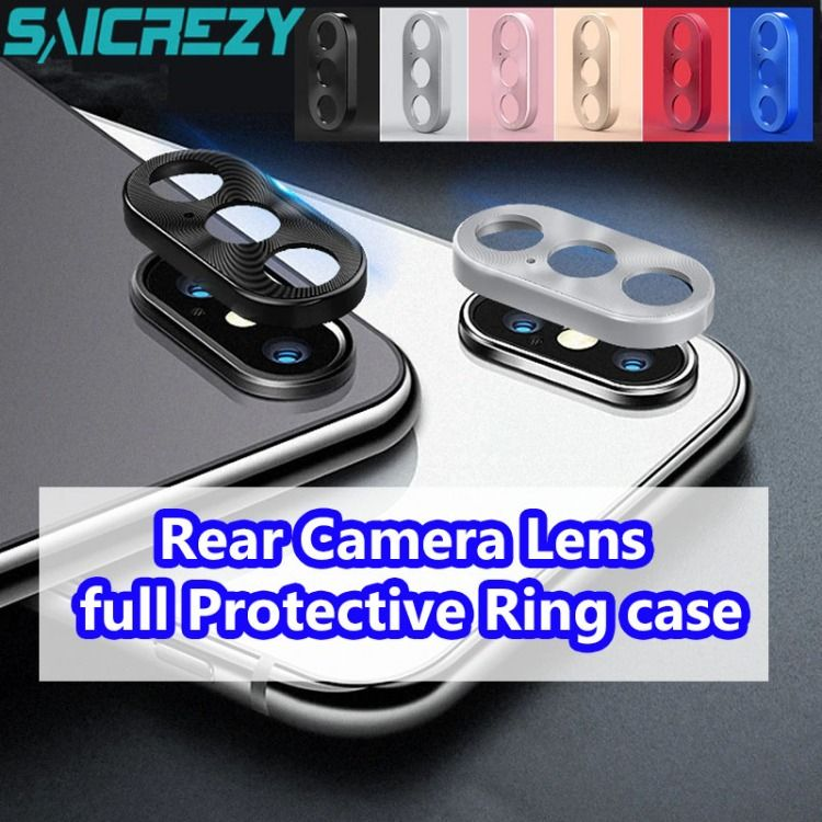 For iphone x rear camera lens full protective ring case