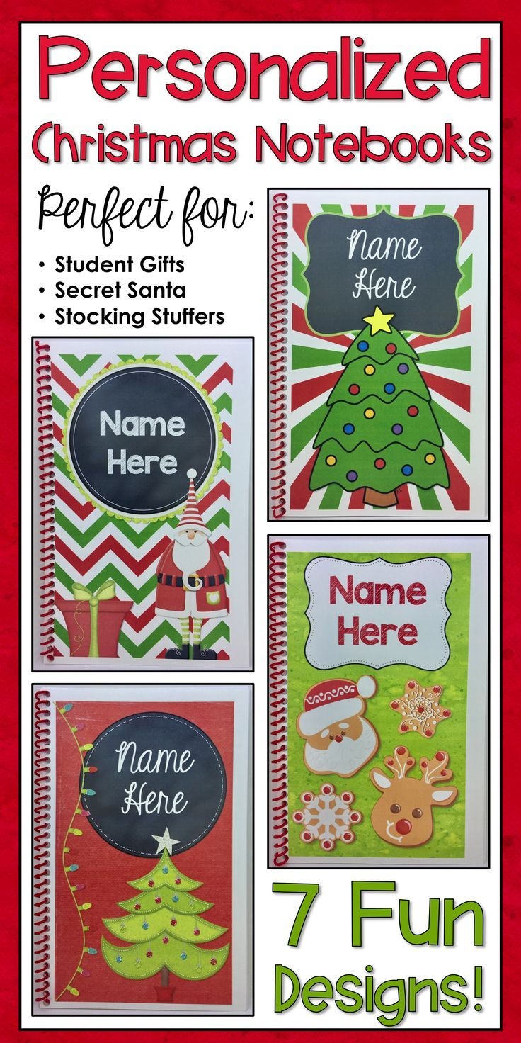 Personalized Christmas Notebooks: The Perfect Student Gift ...