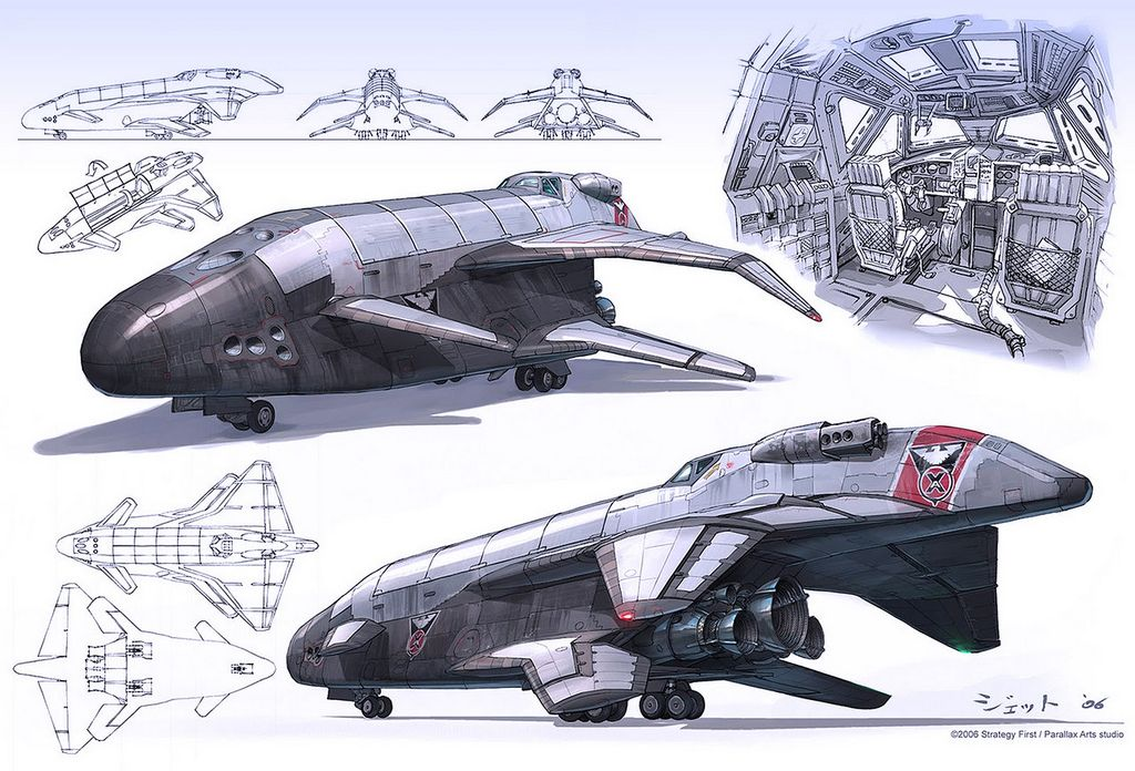 Dune Spacecraft Explorer Spaceship Craft Hover Space Shuttle Concept