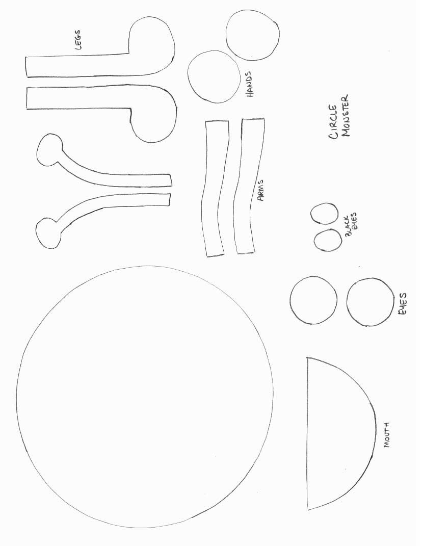 Mosnter Template Shapes Crafts Print Your Circle Monster Template At