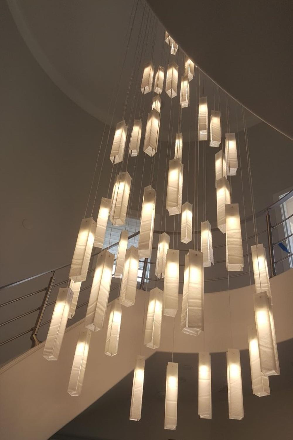 Modern Entrance Or Staircase Large Hanging Light Chandelier Buy Modern Oval Crystal Chandelie High Ceiling Lighting Modern Chandelier Modern Chandelier Foyer