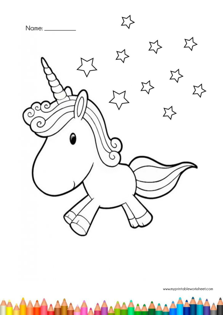 Easy Cute Unicorn Coloring Pages For Kids And Girls Printable Coloring Unicorn Coloring Pages Coloring Pages For Kids Frog Coloring Pages