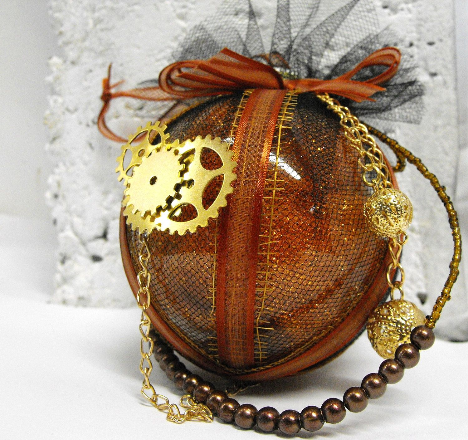 Steampunk Christmas Ornament Rust Is The Color Of Time Holiday Decoration