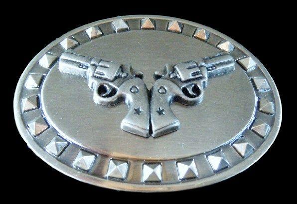 GUN COLT 2 REVOLVER RHINESTONE BIG WESTERN BELT BUCKLES #studded #studs #studdedbuckle #gun #revolver #western #westernbuckle #beltbuckle #gunbuckle