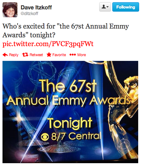 Um.....we are? #Emmys #67st
