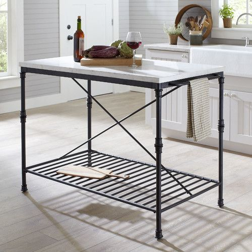 Castille Prep Table With Marble Top Furniture Country Furniture Stylish Kitchen Island