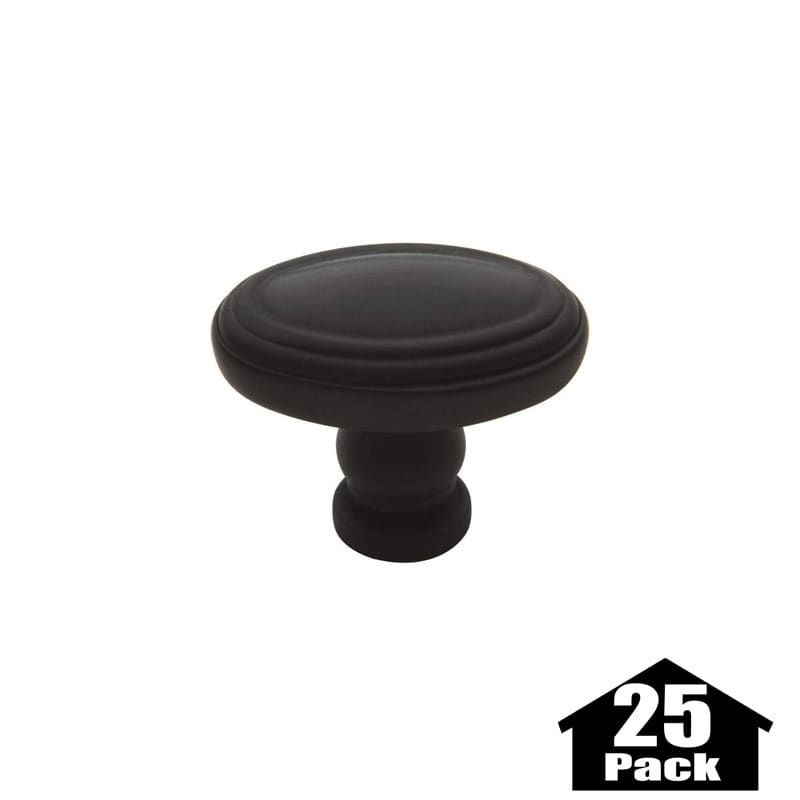Baldwin 4915-25PACK Oval 1 Inch Long Oval Cabinet Knob from the Estate Collectio