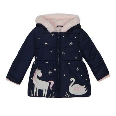 4e319b26825e bluezoo Girls  navy winter scene applique coat