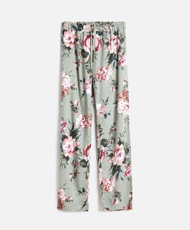Pantalón hortensia - OYSHO   Pijamas   Pinterest   Hortensias ...