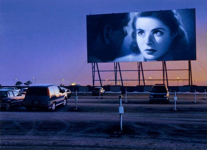 Andrew Valko captures silver-screen charm in drive-in theatre paintings