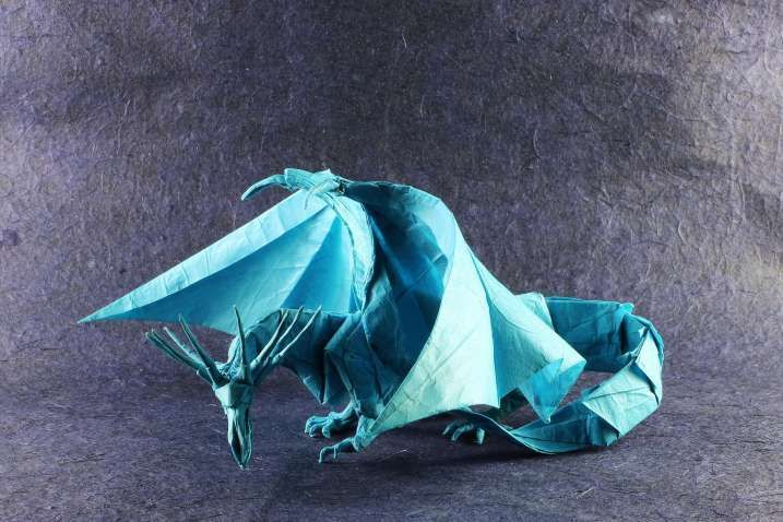 Origami Ancient Dragon Crease Pattern Lovely Origami