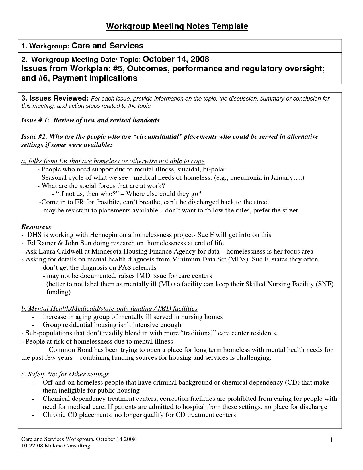Summary Meeting Template Colona Rsd7 In Meeting Recap Template