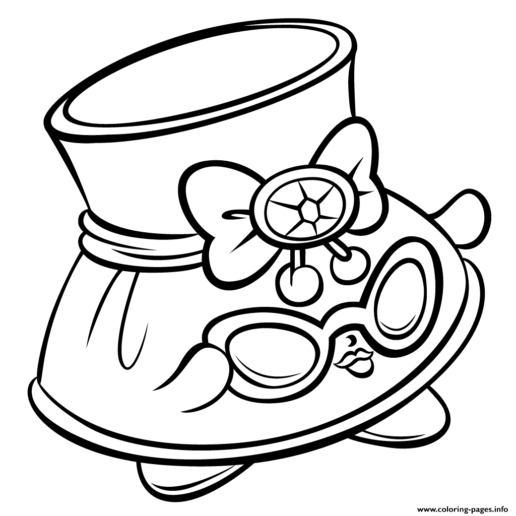 Shopkins coloring pages pinterest - Print Hat Shady And Sunglasses Shopkins Season 3 Coloring Pages