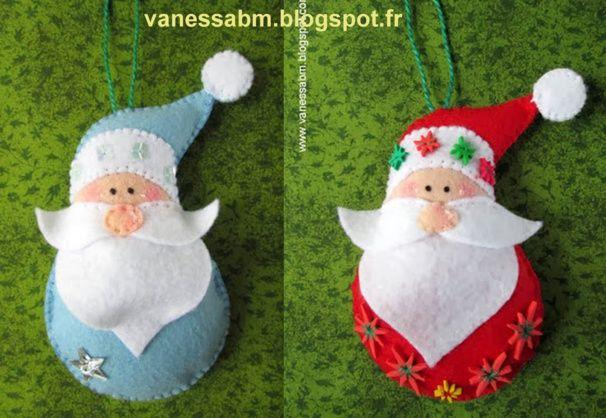Pere Noel En Feutrine Faire un Père Noël en feutrine, des modèles, des tutos | Noël en