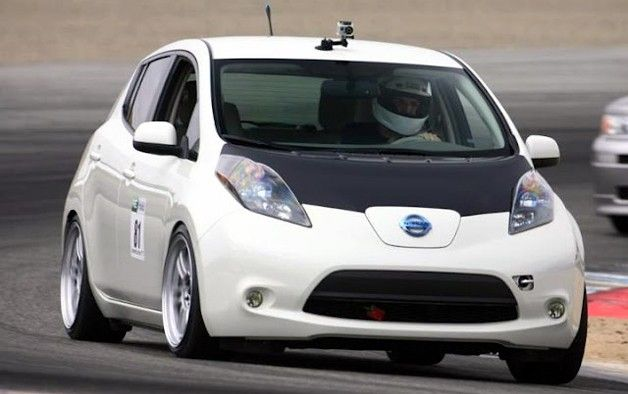 Lowered Nissan Leaf The