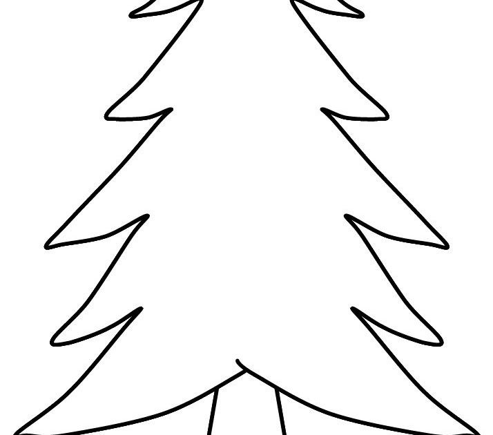 Pix For Blank Christmas Tree Coloring Christmas Tree ...