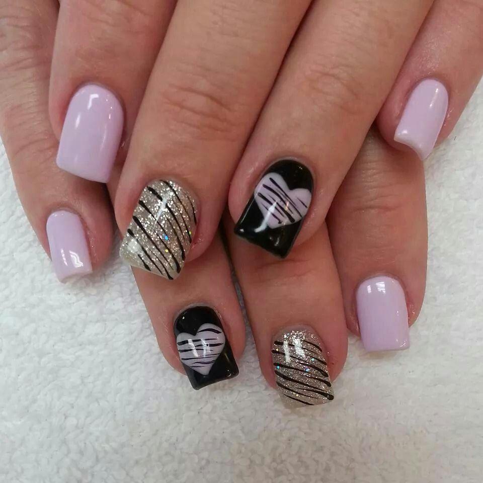 Lilac black n silver nails nail art and designs pinterest lilac black n silver nails prinsesfo Choice Image